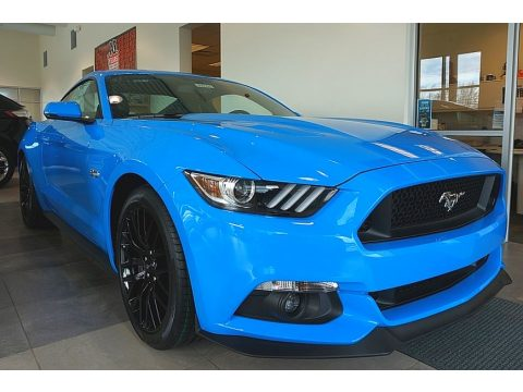Grabber Blue Ford Mustang GT Premium Coupe.  Click to enlarge.