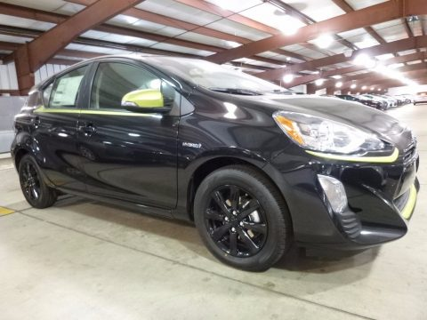 Black Sand Pearl Toyota Prius c Special Edition.  Click to enlarge.