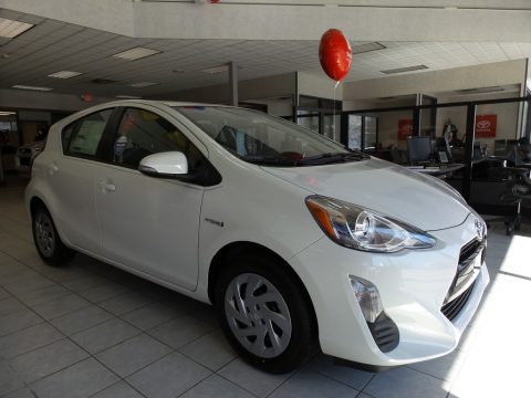 Super White Toyota Prius c Three.  Click to enlarge.