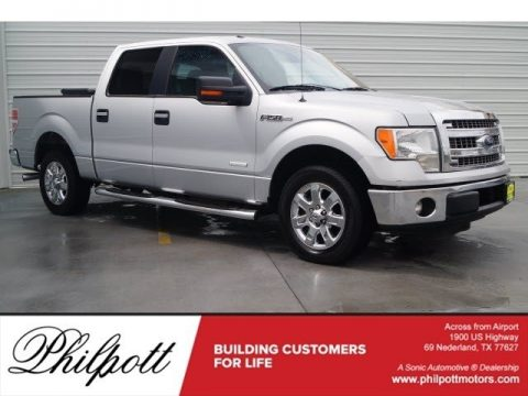 Ingot Silver Metallic Ford F150 XLT SuperCrew.  Click to enlarge.