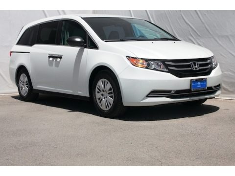 White Diamond Pearl Honda Odyssey LX.  Click to enlarge.