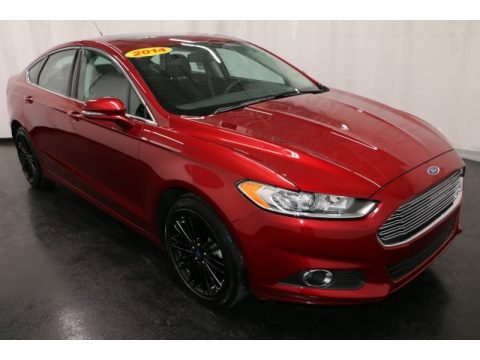 Ruby Red Ford Fusion SE EcoBoost.  Click to enlarge.