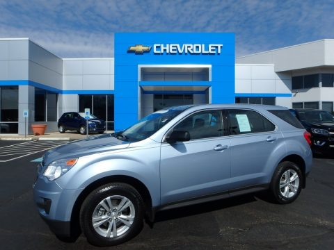 Silver Topaz Metallic Chevrolet Equinox LS.  Click to enlarge.