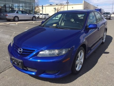 Lapis Blue Metallic Mazda MAZDA6 i Sport Hatchback.  Click to enlarge.