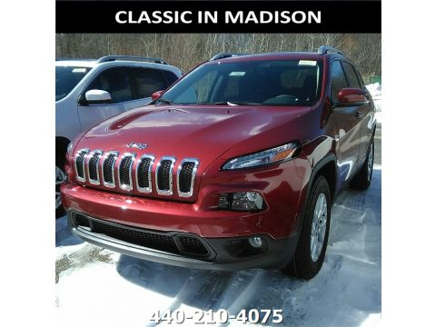 Deep Cherry Red Crystal Pearl Jeep Cherokee Latitude 4x4.  Click to enlarge.