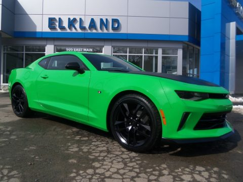 Krypton Green Chevrolet Camaro LT Coupe.  Click to enlarge.