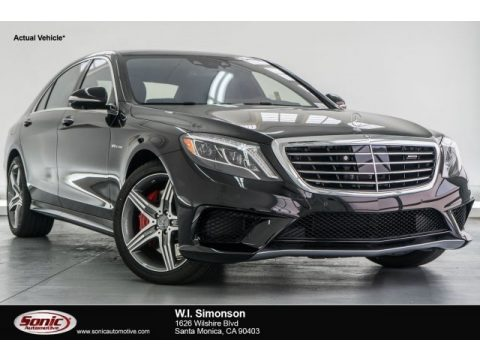 Obsidian Black Metallic Mercedes-Benz S 63 AMG 4Matic Sedan.  Click to enlarge.
