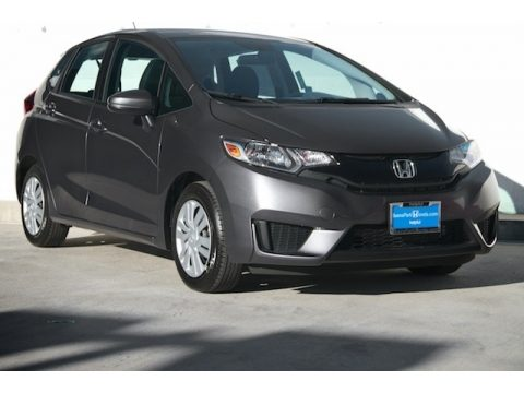 Modern Steel Metallic Honda Fit LX.  Click to enlarge.