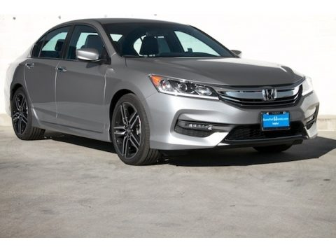 Lunar Silver Metallic Honda Accord Sport Sedan.  Click to enlarge.
