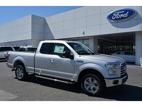 Ingot Silver Ford F150 XLT SuperCab.  Click to enlarge.