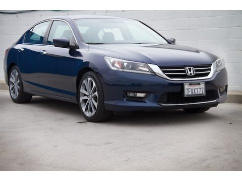 Obsidian Blue Pearl Honda Accord Sport Sedan.  Click to enlarge.