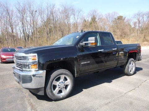 Black Chevrolet Silverado 2500HD Work Truck Double Cab 4x4.  Click to enlarge.