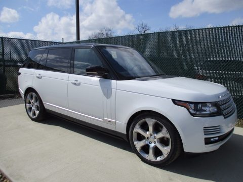 Fuji White Land Rover Range Rover Supercharged LWB.  Click to enlarge.