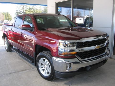 Siren Red Tintcoat Chevrolet Silverado 1500 LT Crew Cab 4x4.  Click to enlarge.