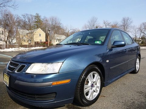 Fusion Blue Metallic Saab 9-3 2.0T Sport Sedan.  Click to enlarge.