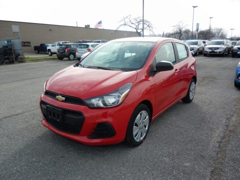 Red Hot Chevrolet Spark LS.  Click to enlarge.