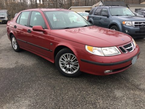Laser Red Saab 9-5 Arc Sedan.  Click to enlarge.