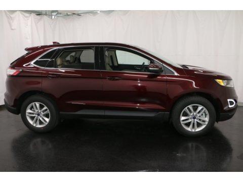 Burgundy Velvet Metallic Ford Edge SEL AWD.  Click to enlarge.