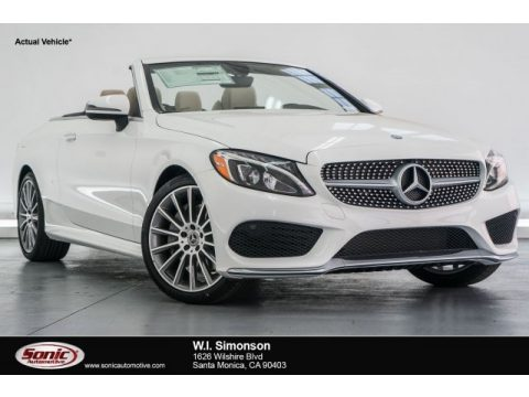Polar White Mercedes-Benz C 300 Cabriolet.  Click to enlarge.