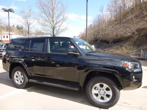 Midnight Black Metallic Toyota 4Runner SR5 4x4.  Click to enlarge.