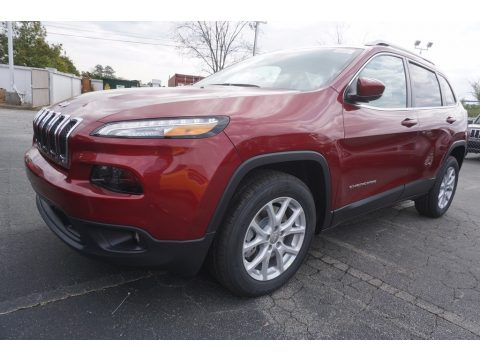 Deep Cherry Red Crystal Pearl Jeep Cherokee Latitude.  Click to enlarge.