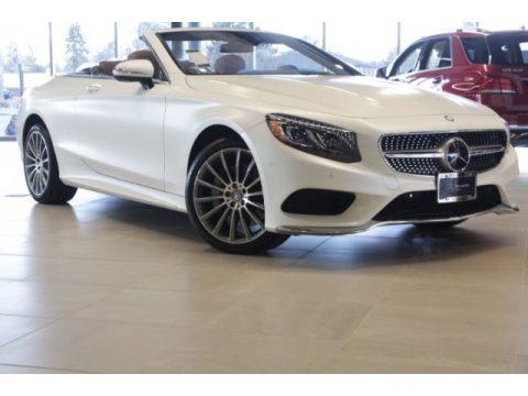 designo Cashmere White (Matte) Mercedes-Benz S 550 Cabriolet.  Click to enlarge.