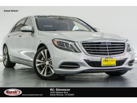Iridium Silver Metallic Mercedes-Benz S 550 Sedan.  Click to enlarge.