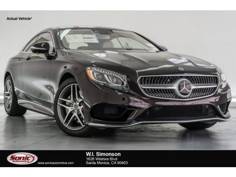 Ruby Black Metallic Mercedes-Benz S 550 4Matic Coupe.  Click to enlarge.