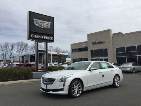 Crystal White Tricoat Cadillac CT6 3.0 Turbo Platinum AWD Sedan.  Click to enlarge.