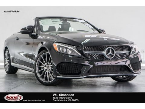 Black Mercedes-Benz C 300 Cabriolet.  Click to enlarge.
