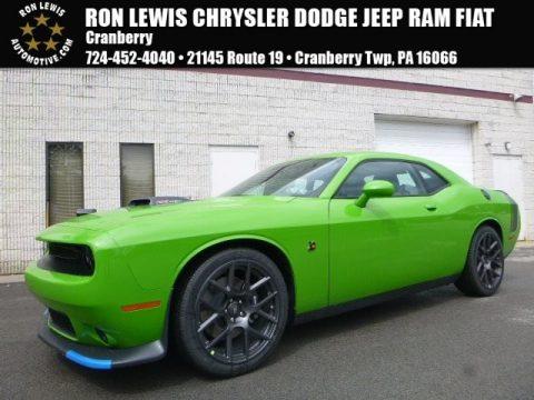 Green Go Dodge Challenger 392 HEMI Scat Pack Shaker.  Click to enlarge.