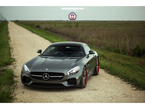 designo Selenite Grey Metallic Mercedes-Benz AMG GT S Coupe.  Click to enlarge.
