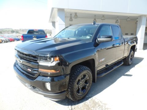 Black Chevrolet Silverado 1500 LT Double Cab 4x4.  Click to enlarge.