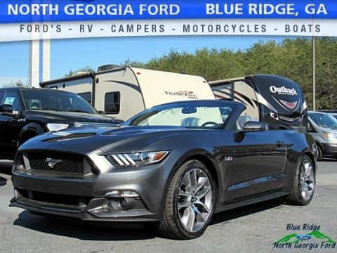 Magnetic Ford Mustang GT Premium Convertible.  Click to enlarge.