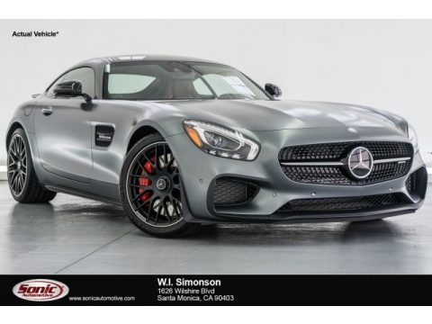 designo Selenite Grey Magno (Matte) Mercedes-Benz AMG GT S Coupe.  Click to enlarge.
