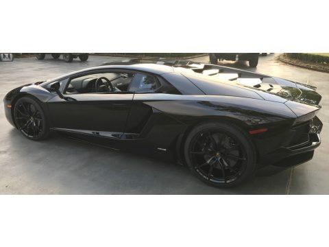 Nero Aldebaran Lamborghini Aventador LP700-4 Coupe.  Click to enlarge.