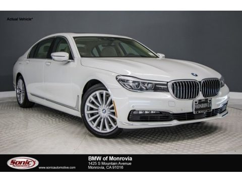Mineral White Metallic BMW 7 Series 740i Sedan.  Click to enlarge.