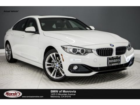 Alpine White BMW 4 Series 430i Gran Coupe.  Click to enlarge.