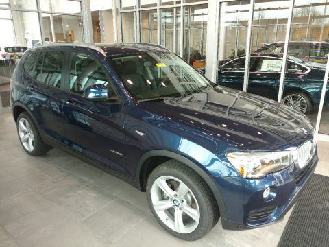 Deep Sea Blue Metallic BMW X3 xDrive28i.  Click to enlarge.