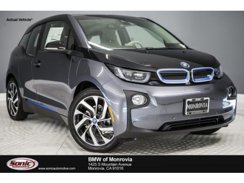 Mineral Grey Metallic BMW i3 with Range Extender.  Click to enlarge.