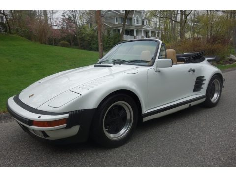 Grand Prix White Porsche 911 Carrera Turbo Cabriolet Slant Nose.  Click to enlarge.