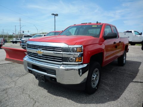 Red Hot Chevrolet Silverado 2500HD Work Truck Double Cab 4x4.  Click to enlarge.