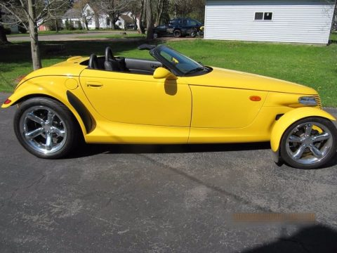 Prowler Yellow Plymouth Prowler Roadster.  Click to enlarge.