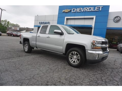 Silver Ice Metallic Chevrolet Silverado 1500 LT Double Cab.  Click to enlarge.