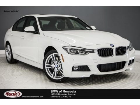 Alpine White BMW 3 Series 330i Sedan.  Click to enlarge.