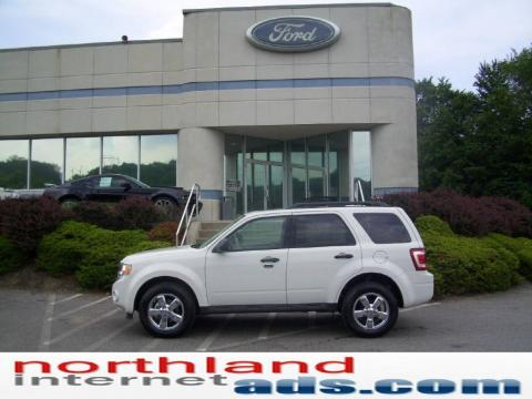 White Suede 2009 Ford Escape XLT V6 4WD with Stone interior White Suede Ford