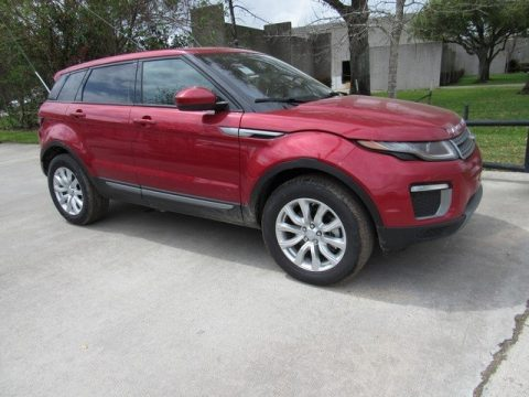 Firenze Red Metalllic Land Rover Range Rover Evoque SE.  Click to enlarge.