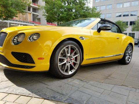 Monaco Yellow Bentley Continental GTC V8 .  Click to enlarge.