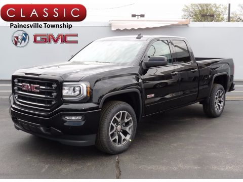 Onyx Black GMC Sierra 1500 SLT Double Cab 4WD.  Click to enlarge.