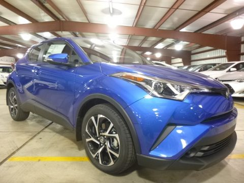 Blue Eclipse Metallic Toyota C-HR XLE.  Click to enlarge.